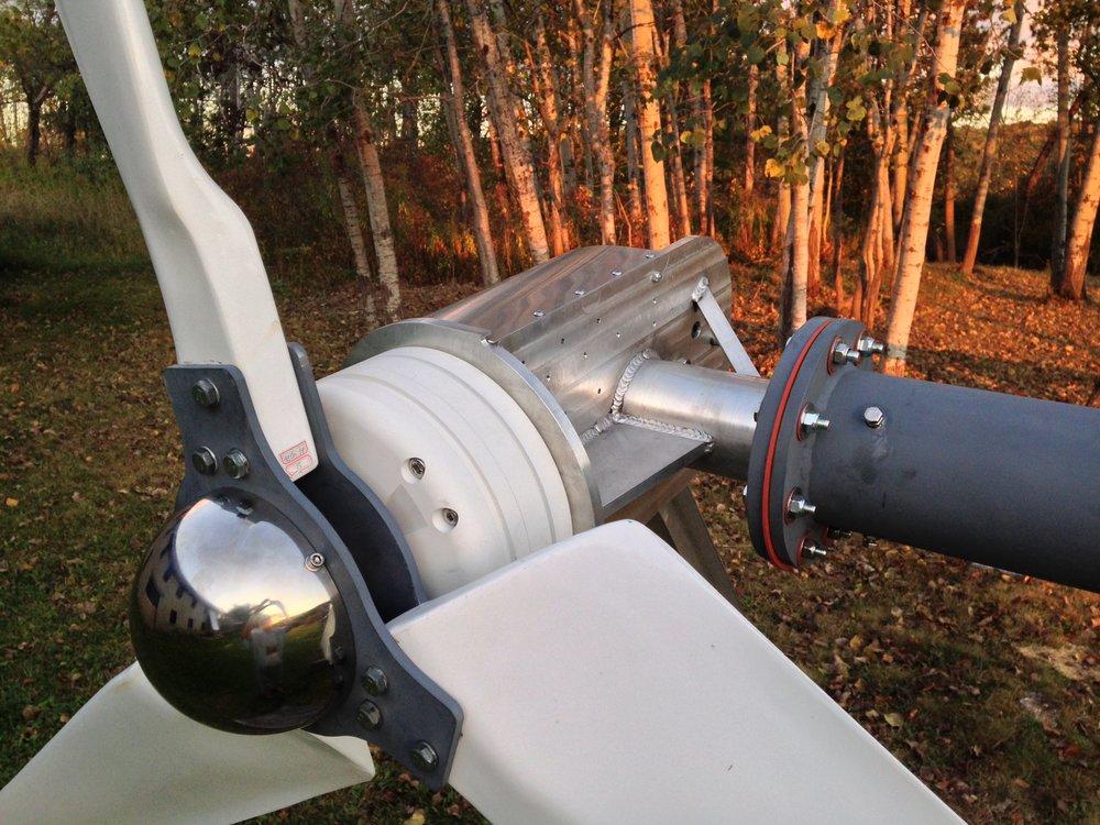 Weaver 2 kW wind turbine.