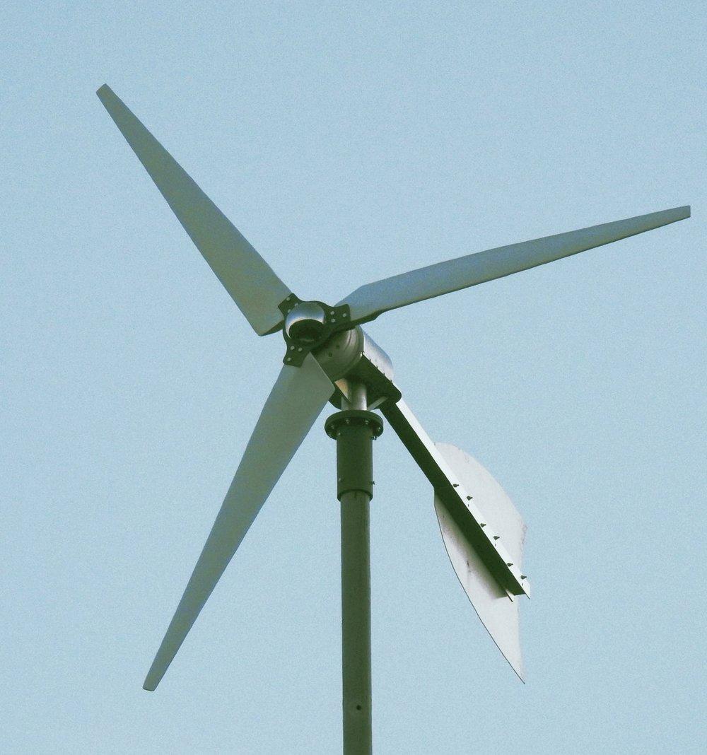 Weaver 2 kW wind turbine. wind power. wind energy. renewable energy. microgrid.