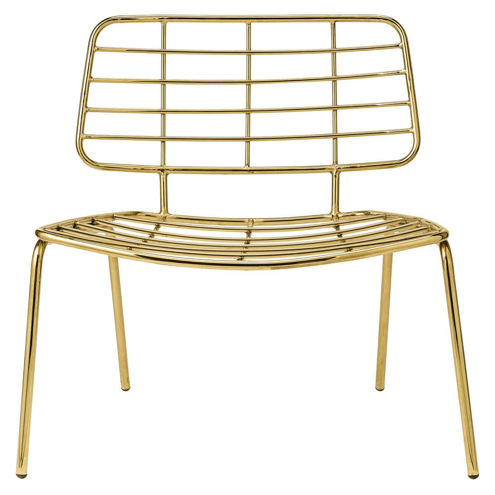 Good Gold Metal Mesh Lounge Chair