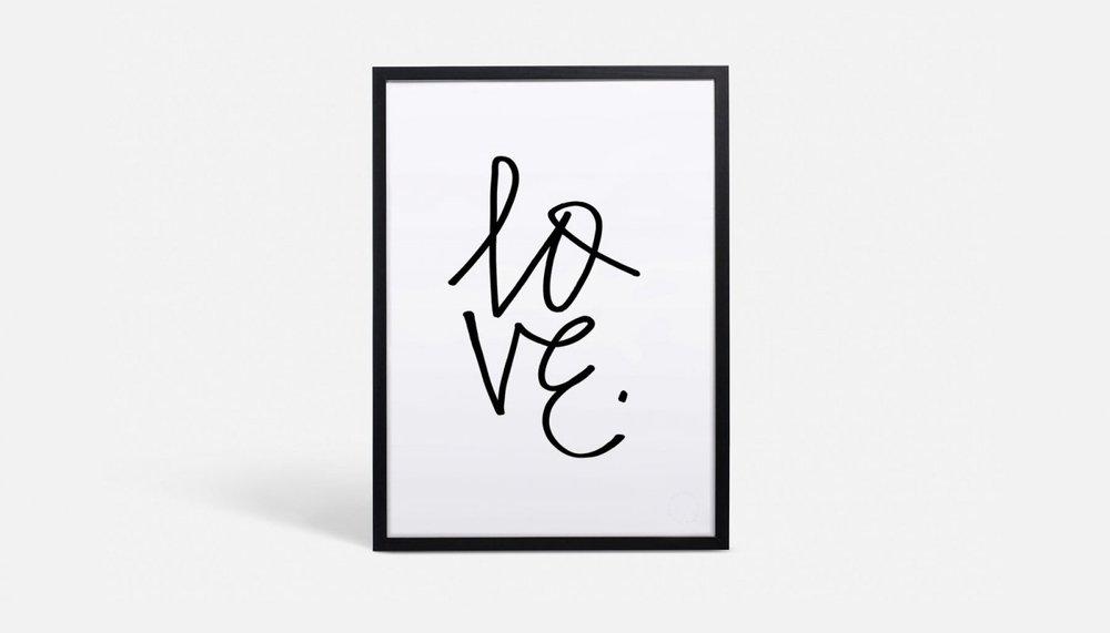 Love Typographic Art Print