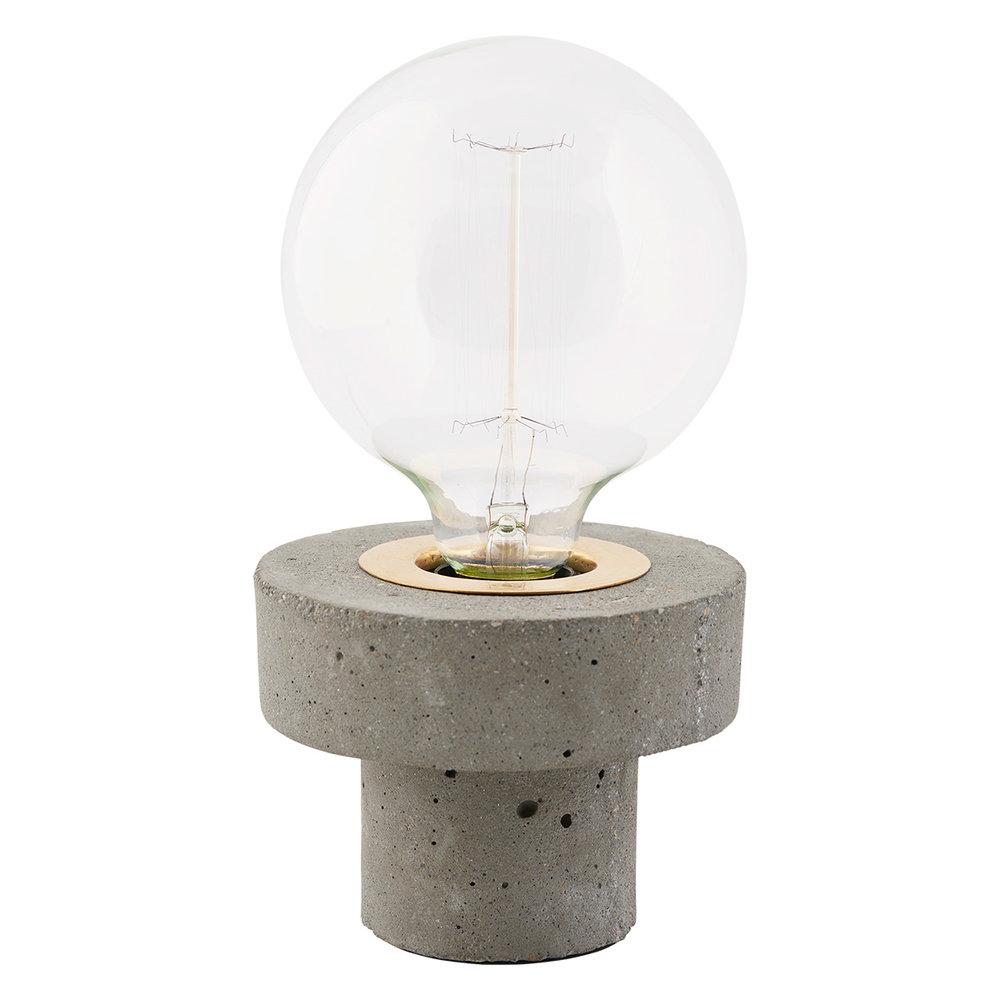 Concrete Brass Pin Light