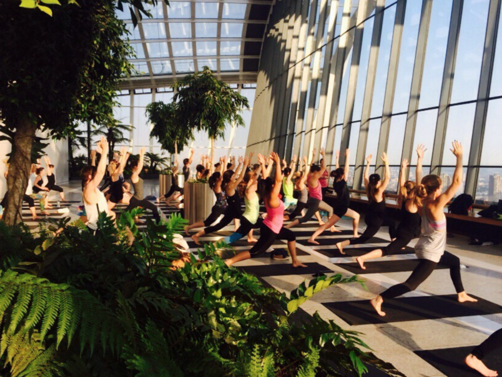 Sunrise Yoga at Sky Garden