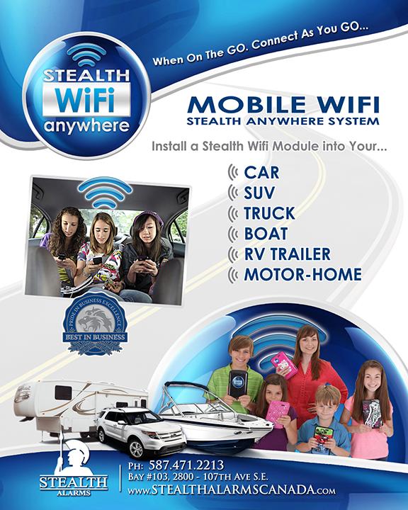 Mobile WIFI Car SUB Truck Boat Trailer Calgary