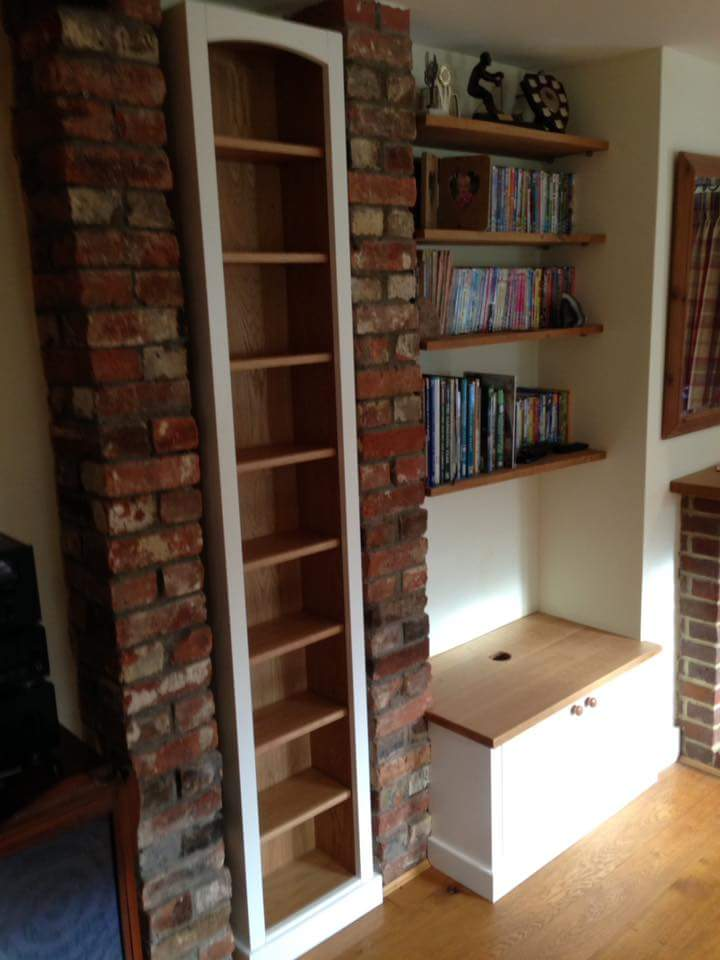 oak and white tall bookcase unit.jpg