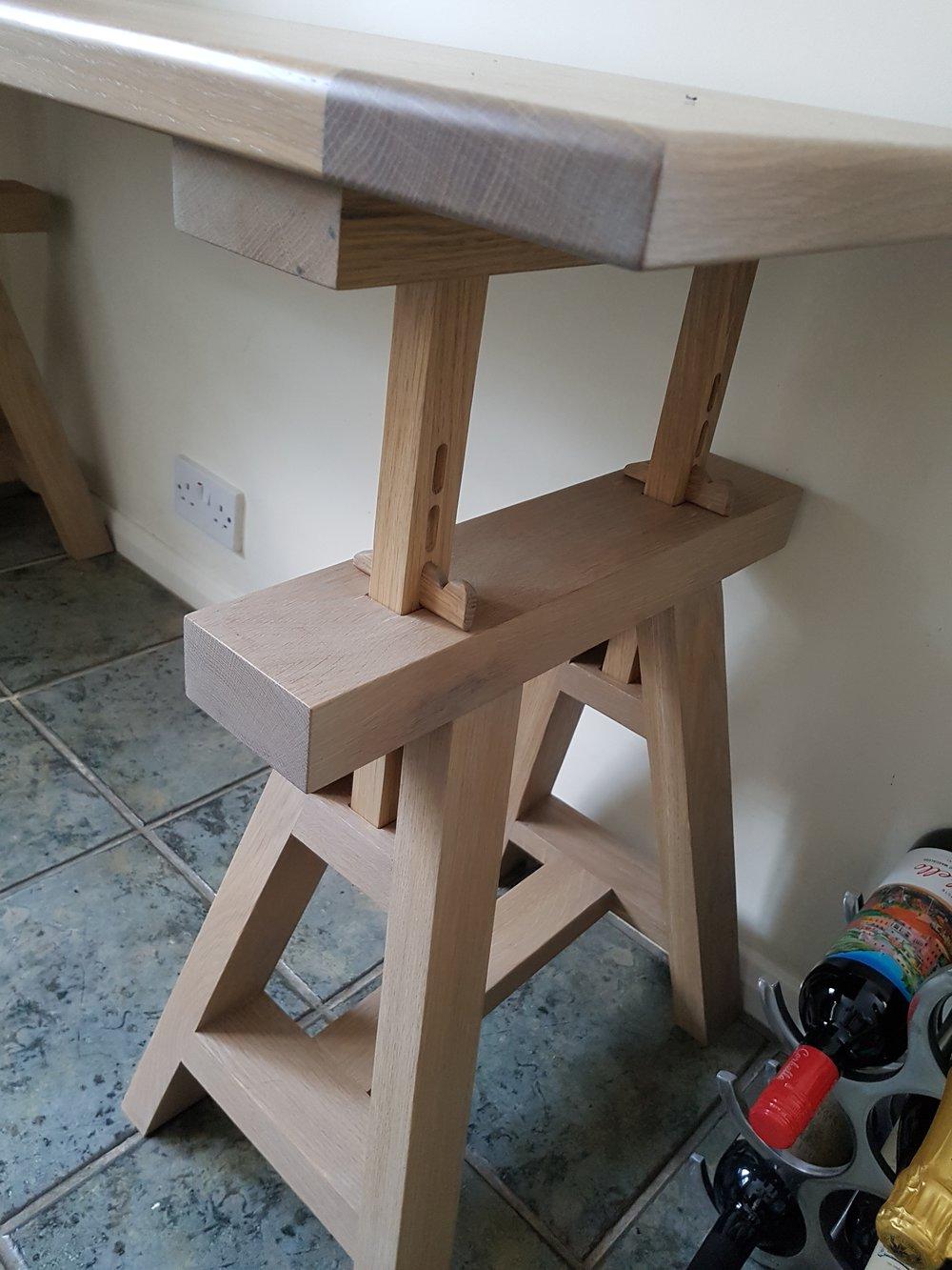 Adjustable Trestle Table