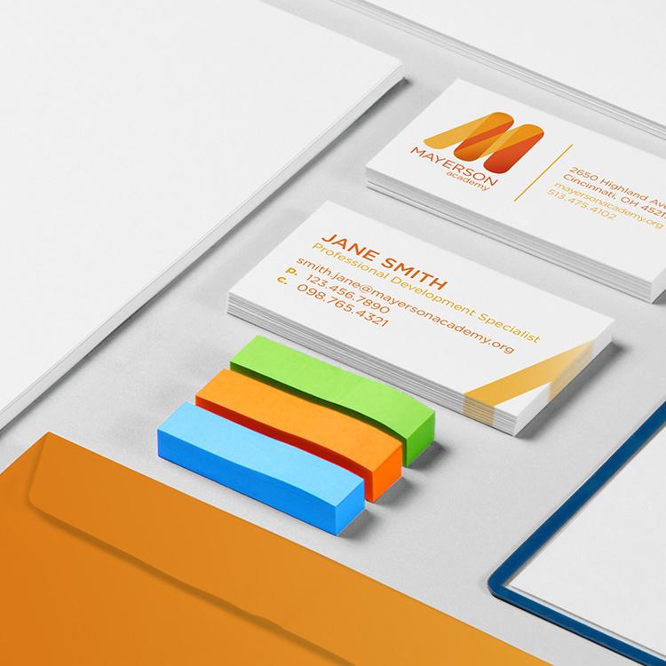 Mayerson Academy   identity, collateral, web design