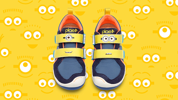 PLAE Shoes X Minions    product design, web design, email, social media