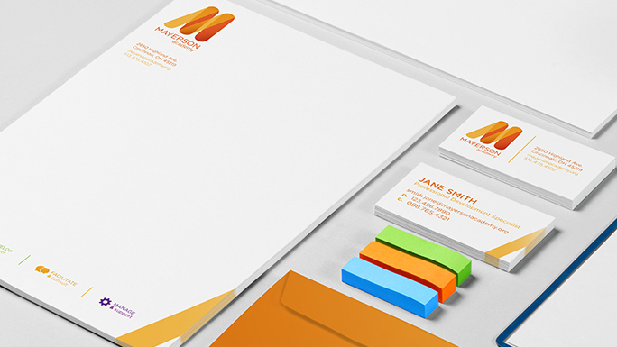 Mayerson Academy     identity, collateral, web design