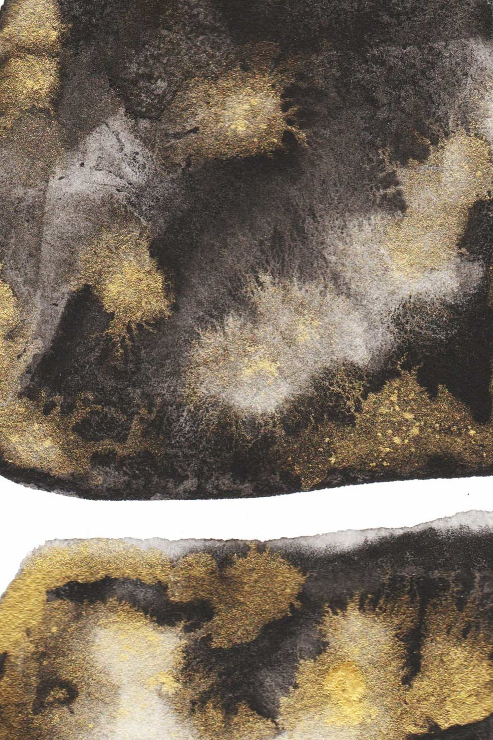 BLACK AND GOLD PAINTING