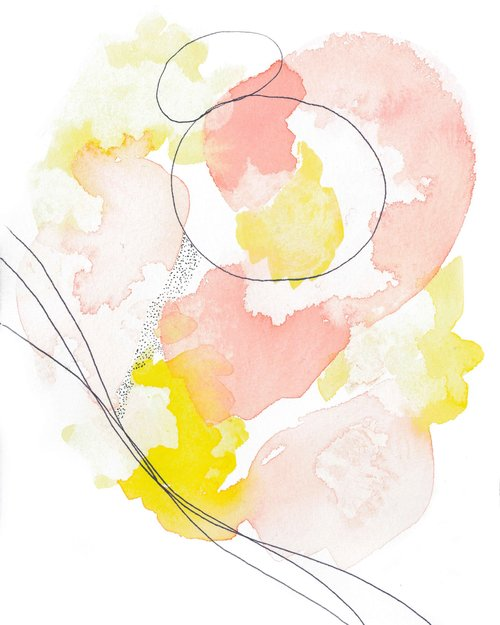 PINK AND YELLOW ART