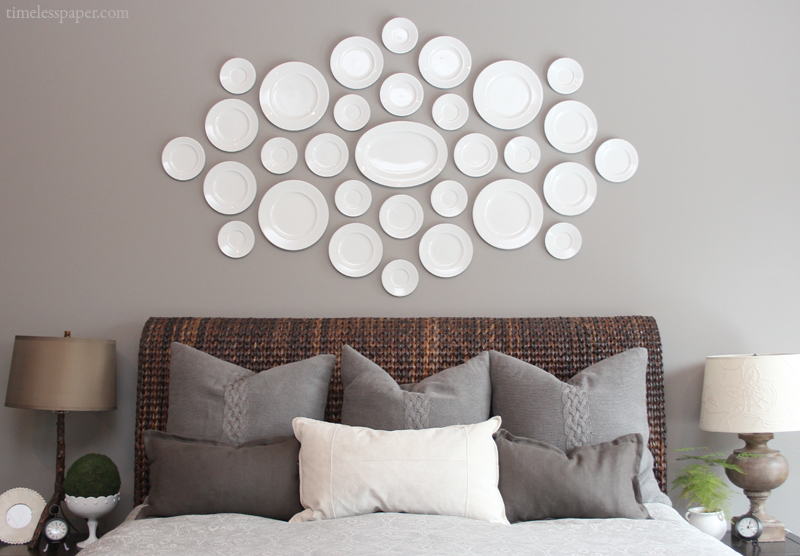 Beautiful Plate display from DrivenbyDecor.com