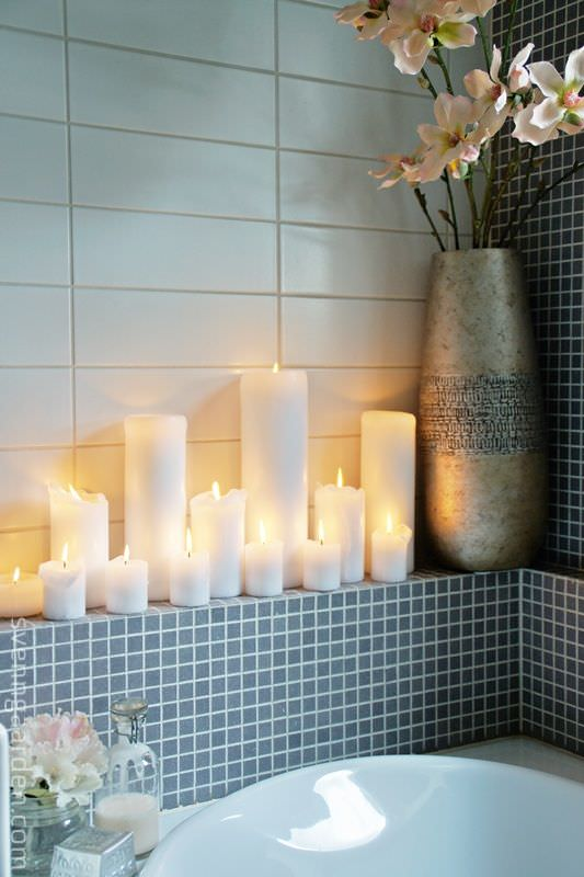 Candle display by BudgetDecorator.com