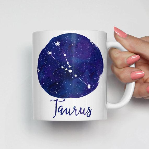 Taurus Coffee Mug by HeartAndWillowPrints