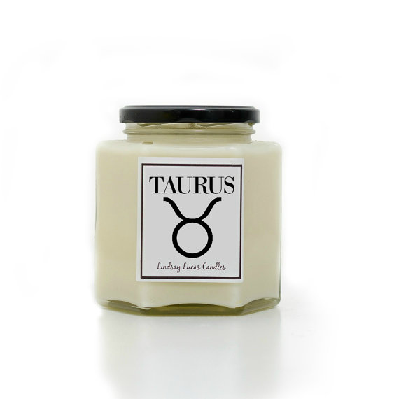 Taurus scented candle by LindsayLucasCandles