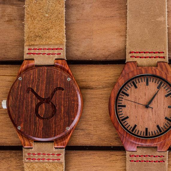 Horoscope Wooden Watch by SkinAndGrain