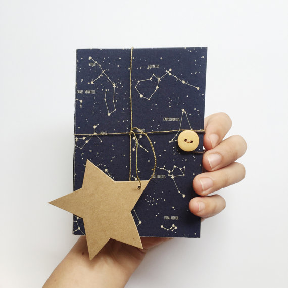 Hand-Stitched Taurus Notebook by PlutoKaleidoscope