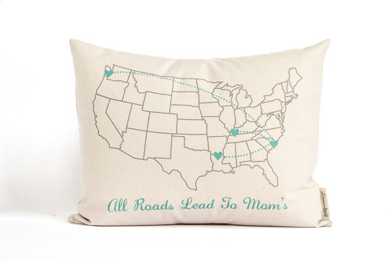 United States Pillow by DoveandDave