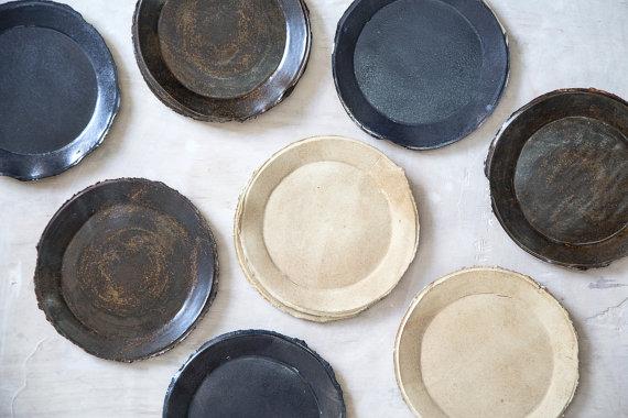 Beautiful Handmade Ceramic Plates by 1220CeramicsStudio