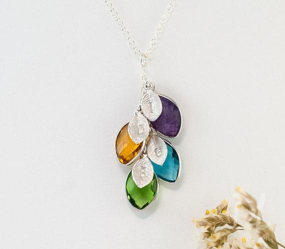 Birthstone Necklace by Delezhen