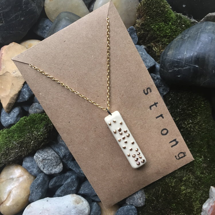 Strong Braille Necklace by NeatArtStudio