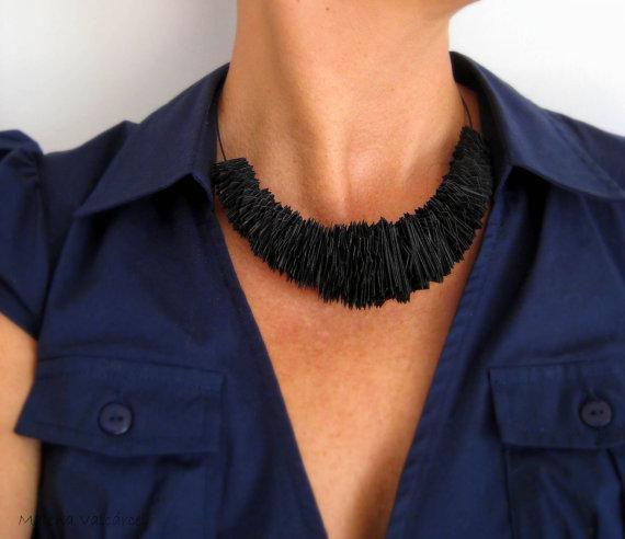 Unique Paper Necklace by MalenaValcarcel