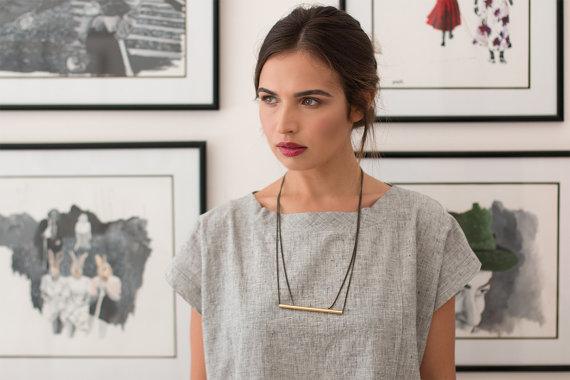 Beautiful Minimalist Necklace by Cudajewelrydesign