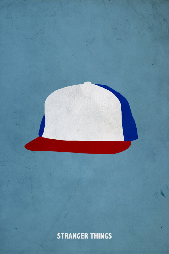 Minimalist Hat Stranger Things Poster by Kulascapes