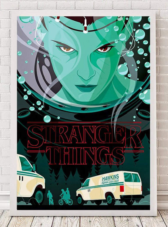 Eleven Stranger Things Art by WonderWallArt
