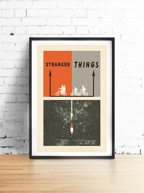Modern Stranger Things Poster by ArtHouseEditions