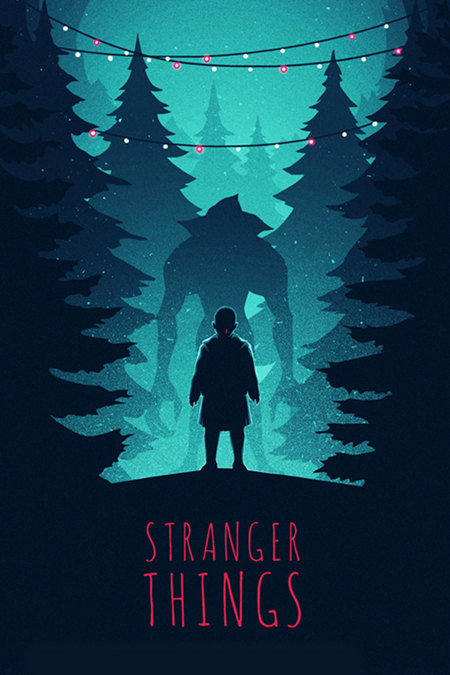 Colorful Stranger Things Art by DanielleSylvan