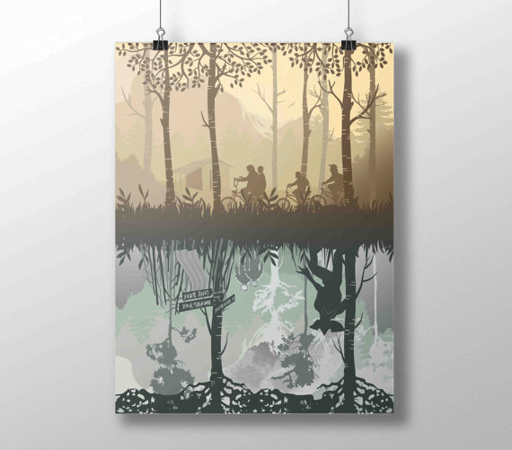 Stranger Things The Upside Down by ArtsAndTravelPrints