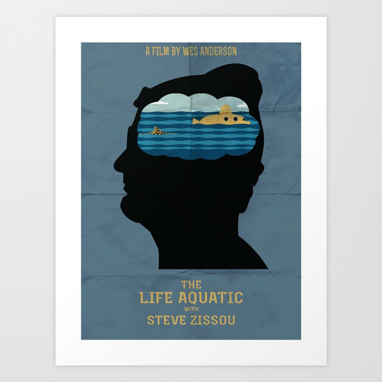 Life Aquatic Movie Poster by Jon Hernandez