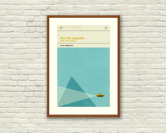 Life Aquatic Movie Poster by Concepcionstudios