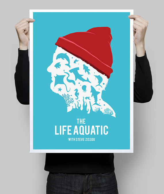 Life Aquatic Poster by Goldenplanetprints