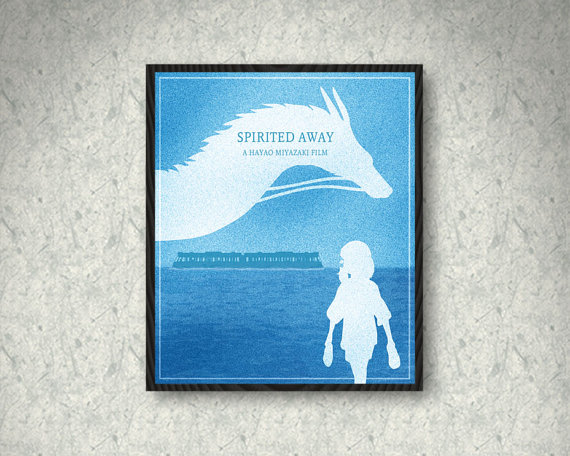 Blue Spirited Away Poster by SuddenGravityPosters