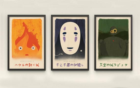Miyazaki Alternative Posters by Acataleo
