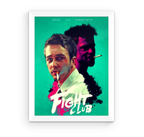 Highly Stylized Fight Club Movie Poster by FlyPhotoCO