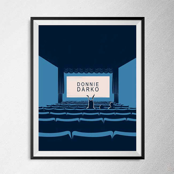 Minimal Donnie Darko Movie Poster by PBrainIllustration