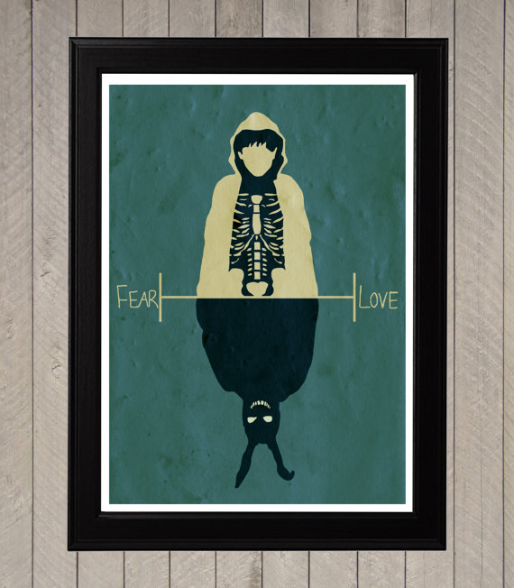 Donnie Darko Fear Love Poster by CultPoster