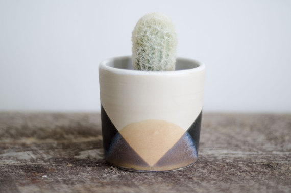 Colorful Planter by Roselinepottery