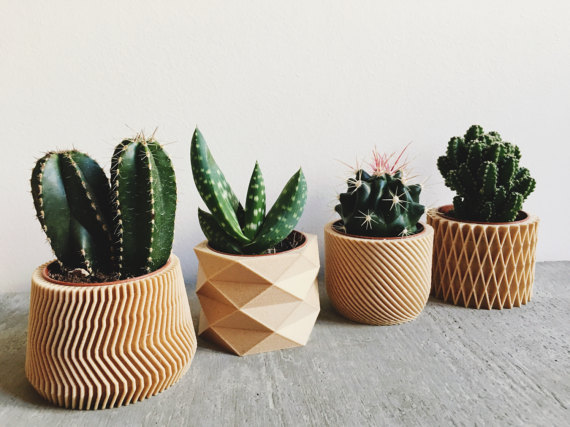 Beautiful Wooden Planters by MinimumDesign