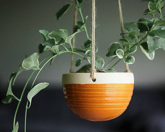 Ceramic Hanging Planter by FunctionPottery