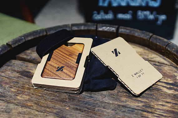 Minimalist Wood Wallet by Woodbyz