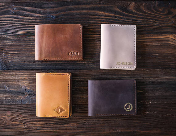 Mens Leather Wallet by SoGoodSoWood