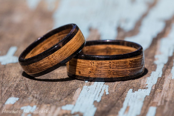 Whiskey Barrel Wood Ring by HawkinsHandicrafts