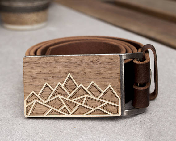 Mountain Belt Buckle by ShopJoyo