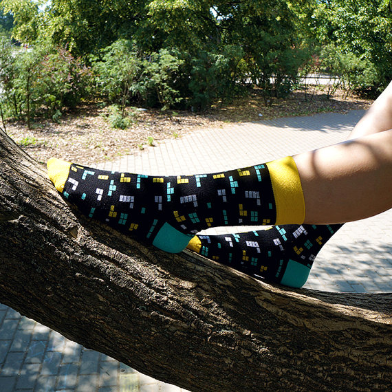 Retro Game Socks by UniqueEver