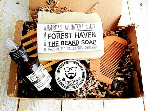 Beard Grooming Kit by TheBeeKeeperShop