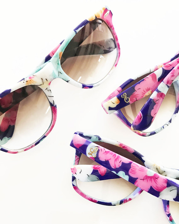 Monogramed Floral Sunnies by ModParty. These affordable and stylish glasses are perfect for the beach or running errands on a sunny day. See more awesome sunnies on Objectified.