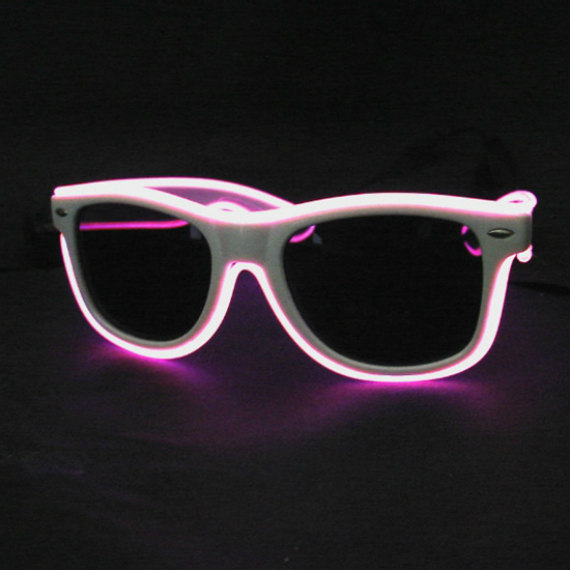 Colorful Sunglasses that Light Up by Flashingo